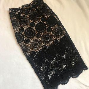 Crochet Midi Skirt With Short Lining